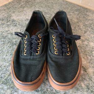 Black Vans Lace up flat Sneakers Womens 8